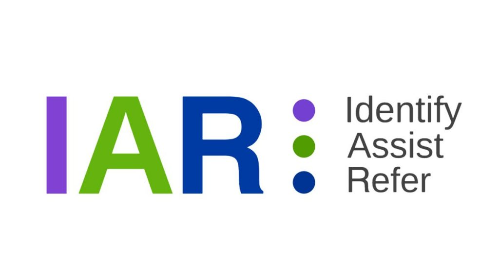 IAR logo (Identify, Assist, Refer)