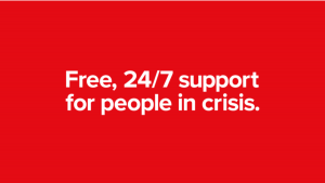 free 24/7 support for people in crisis graphic text