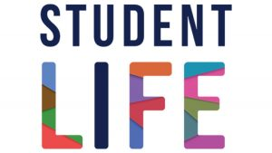 student life text graphic