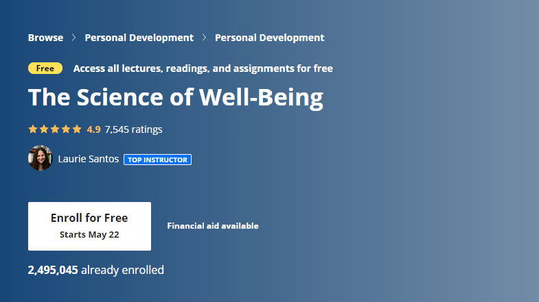the science of well-being graphic text